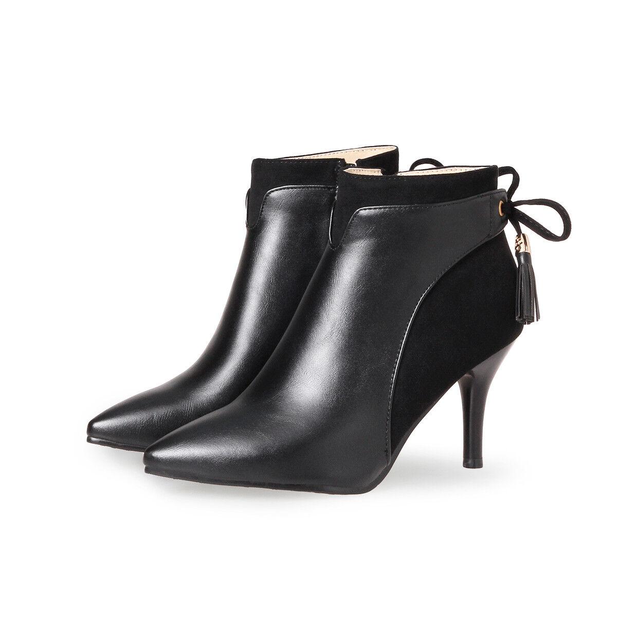 Damen Schuhe Pumps High Heels Fashion Boots top Stiefeletten Spitz 32-46 Party top Boots 61bb83