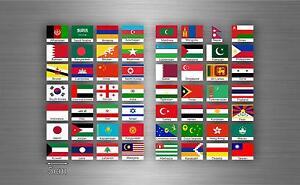 56x-adesivi-sticker-bandiera-stati-asia-asiatico-scrapbooking-collezione-stati-D