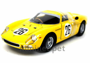 Hot Wheels P9901 Elite 1965 65 Ferrari 250 Lm 26 1 18 Diecast Yellow Ebay