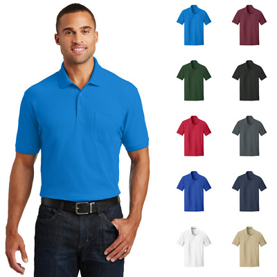 TALL POCKET Polo Silk Touch™ Polo Pocketed Long Collared Shirt LT-4XLT TLK500P