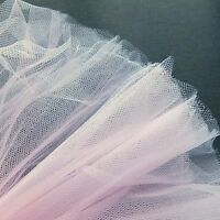 Pastel Light Pink Fine Tulle fabric 300cm wide - by the M - Bridal Prom Baby