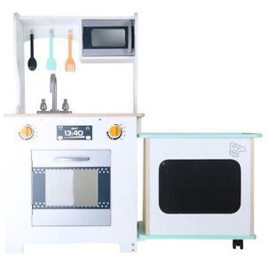 Cucina giocattolo in legno per bambini moderna con bancone for Accessori per cucina moderna