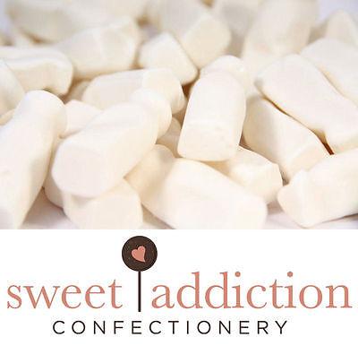 1kg Milk Bottles - Bulk Wedding Birthday Candy Buffet Lollies - Sweet Addiction