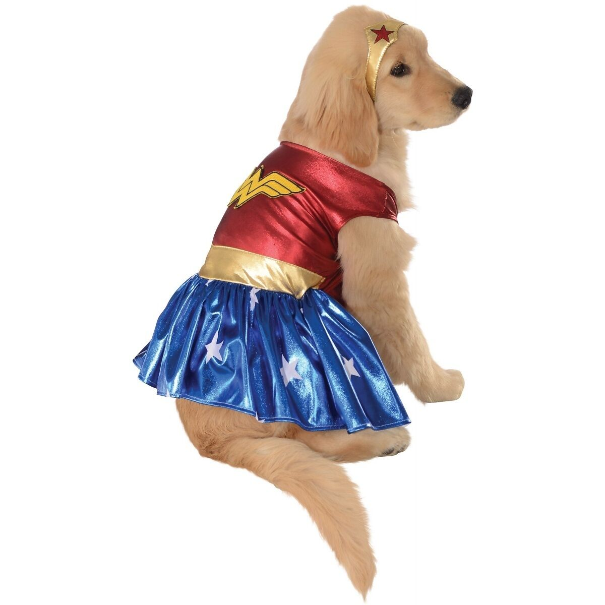 Wonder Woman Pet Costume Halloween Fancy Dress