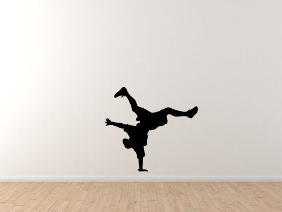 Contour Silhouette- Dancing Man Guy Version 4 Shadow - Vinyl Wall Decal