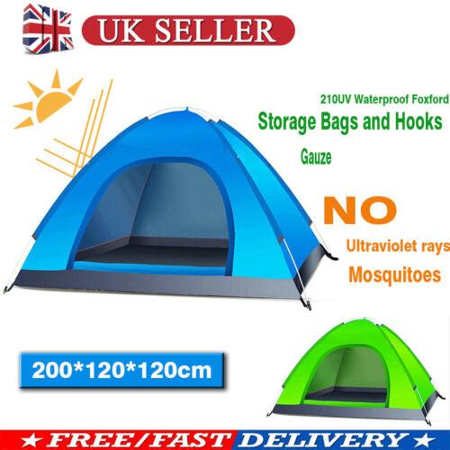 1-2 Person Camo Camping Waterproof Folding Tent Hiking Automatic Pop up Anti-UV