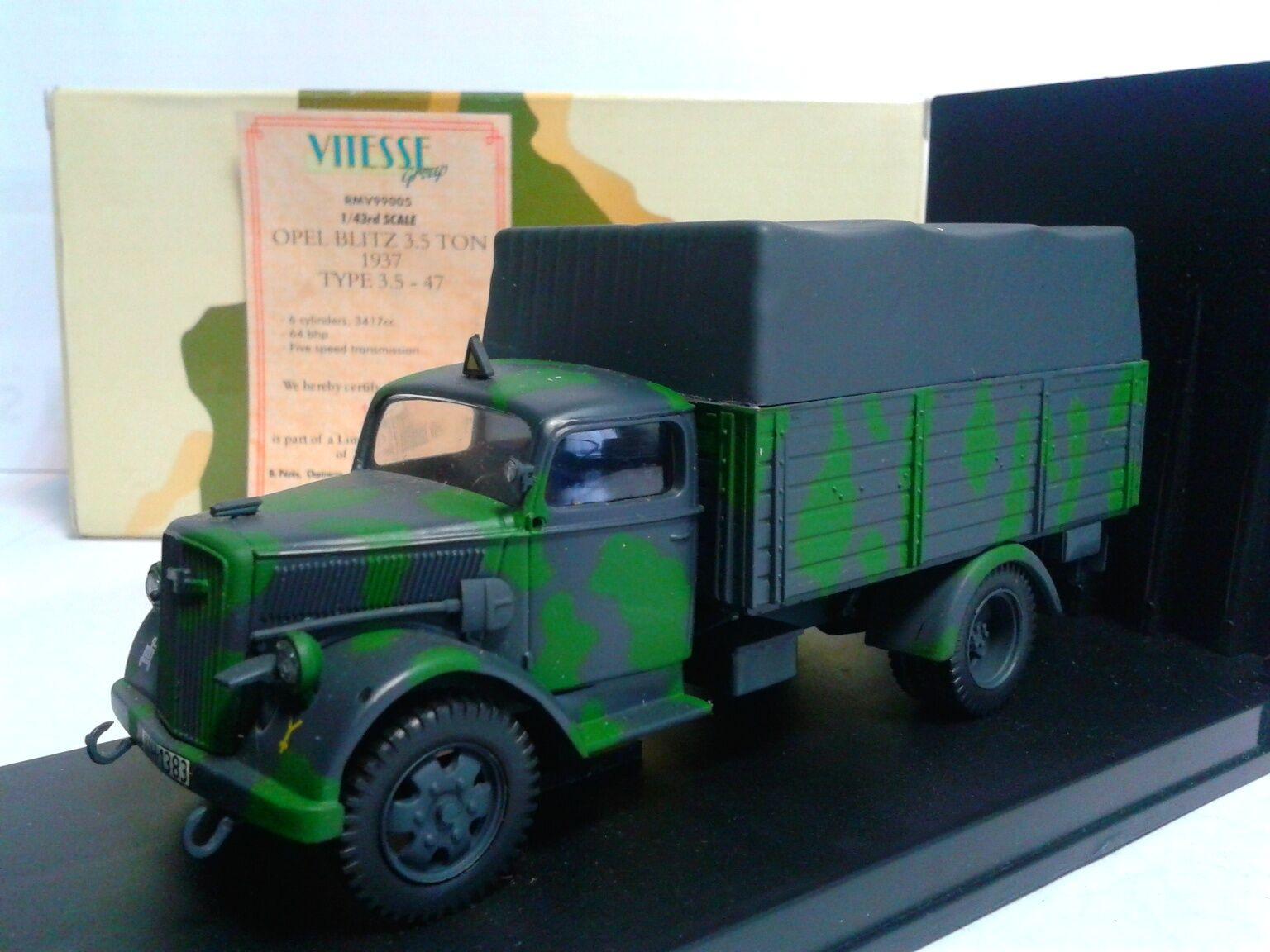 Vitesse Victoria OPEL Blitz 3,5 Ton Wehrmacht Wehrmacht Wehrmacht camo Limited Edition WWII RMV99005 001350