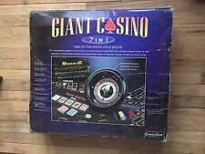 Excaliber Giant Casino 7 In 1 Game Set, extra game felts, Poker, Black jack