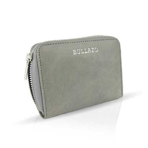 BULLAZO GALANO MINI Kleine Damen Geldbörse aus Leder mit Reißverschluss