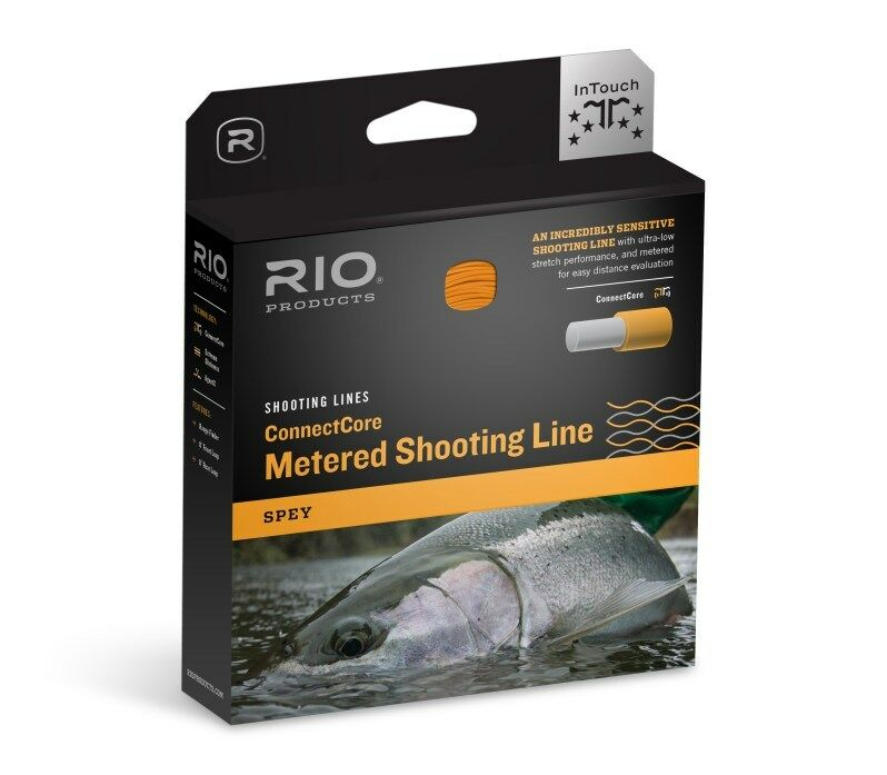 RIO .032IN  CONNECTCORE METERED FLOATING SPEY SHOOTING FLY LINE IN STRAW orange