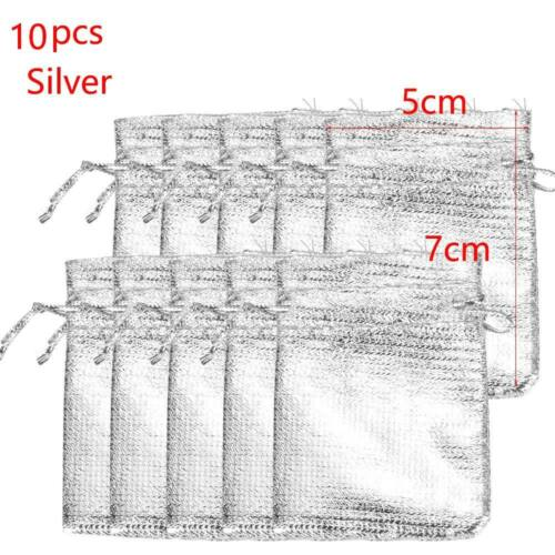 Supplies Metallic Foil Cloth Packaging Pouches Organza Bag Jewelry Gift Bags