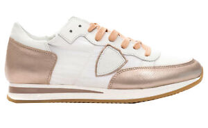 Sneakers-Philippe-Model-TROPEZ-L-Dmondial-scarpa-Made-in-Italy-donna-rosa-TRLDWM