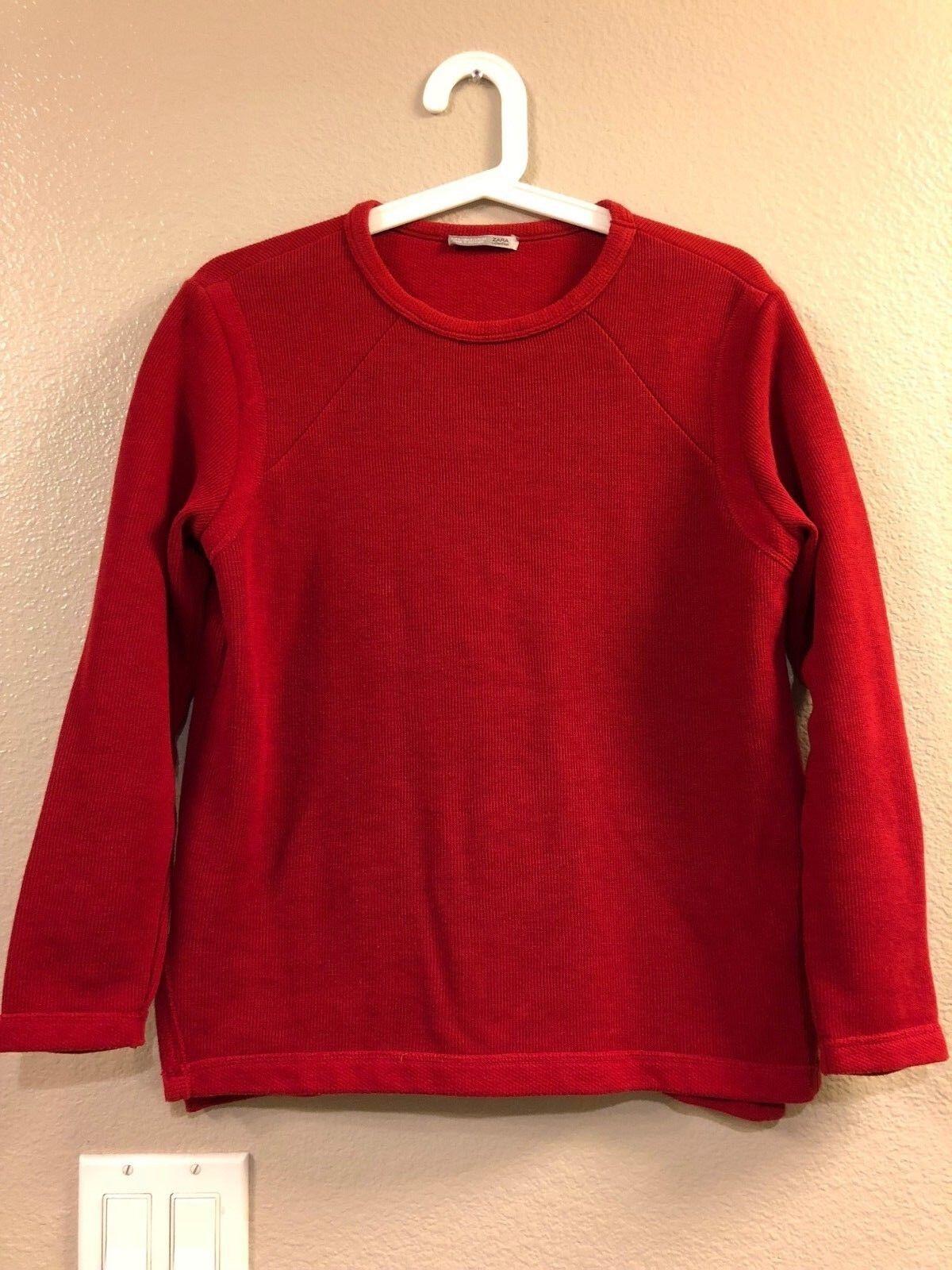 Zara Women Sweatshirt Red Size S