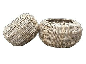 Rattan-Wicker-Lampshades-Table-Lamp-Celling-Retro-Drum-Basket-Grey-Kitchen