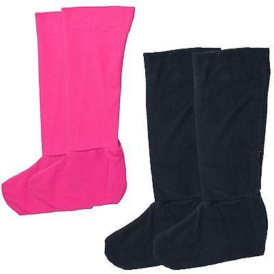 Ladies /& Mens Plain Wellington Boot Fleece Socks Welly Liners Festival Adults