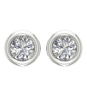 Screw-Backs-Solitaire-Stud-Earrings-SI1-G-0-40-Ct-Natural-Round-Diamond-14K-Gold