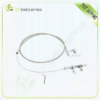 Detent Cable Compatible with Ford C6 Stainless Steel Braided Kick Down Cable Transmission Detent Kickdown