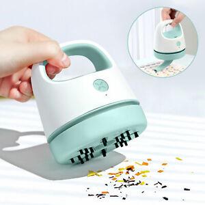 Mini Desktop Vacuum Cleaner Portable Table Desk Dust Sweeper Home Office Clean