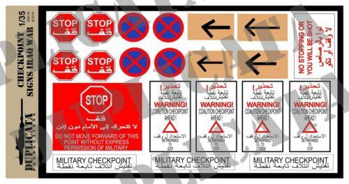 Duplicata Productions 1//35 Iraq War Checkpoint Sign