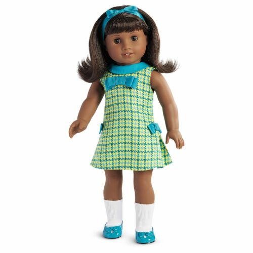 Deep Brown Eyes BNIB! Black Hair Authentic American Girl Doll Melody