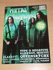 Metal Hammer magazine 10 1999 * Type O Negative on cover * Slipknot * Moonspell
