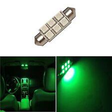1 Super Green 42mm 578 LED 211-2 Bulbs Festoon 5050 Dome Map Cargo Light 1xE4