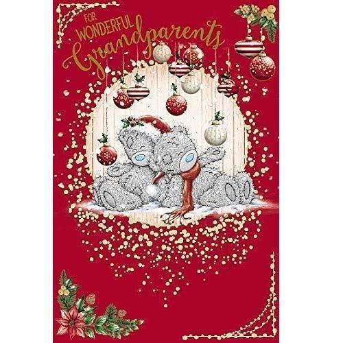 ME TO YOU FOR merveilleux grands-parents Carte de Noël Tatty Teddy Bear NEUF