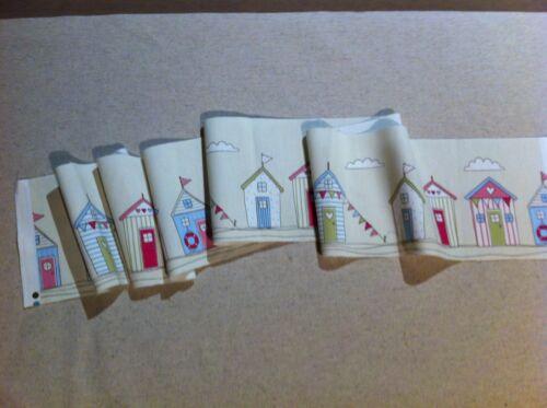 Fryett`s Pink  Beach Hut Fabric 15 cmx138cm Remnant,off cuts,Card Making,Crafts