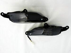 Nero-LED-Frecce-Posteriori-Kawasaki-ZZR-1400-Fume-Indicatori-di-Direzione