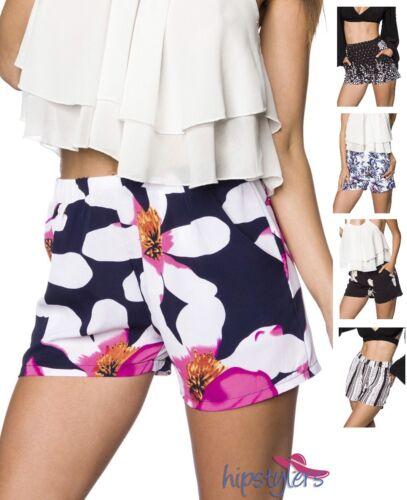 Hipstylers Damen Shorts Gummibund weites Bein Taschen