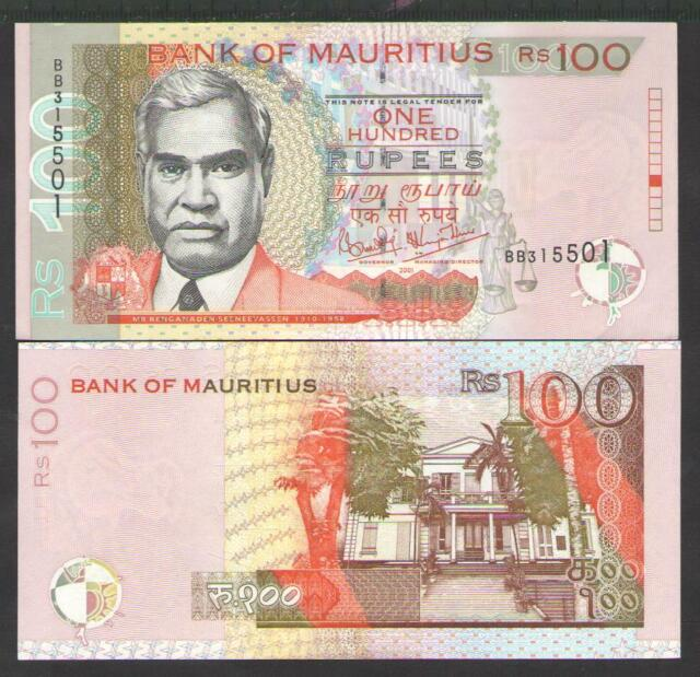 Mauritius 100 Rupees 2001. for sale online | eBay