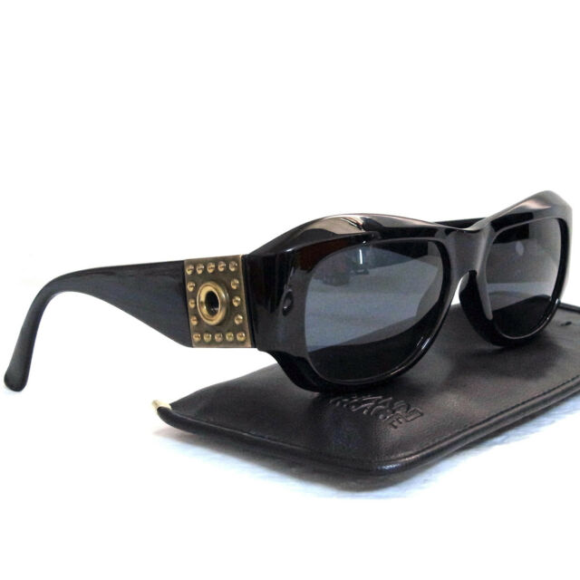 f7db9fee010f Authentic Gianni Versace Black Sunglasses Mod 395 Col 852 BK Made Italy in  Case