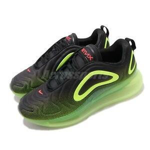9f06a58d49 Nike Air Max 720 Black Volt Mens Running Shoes Sneakers AO2924-008 ...