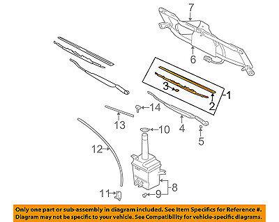 Genuine Hyundai 98350-33102 Windshield Wiper Blade Assembly