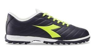 Dettagli su DIADORA PICHICHI TF scarpe calcetto calcio uomo tacchetti pelle nero giallo fluo