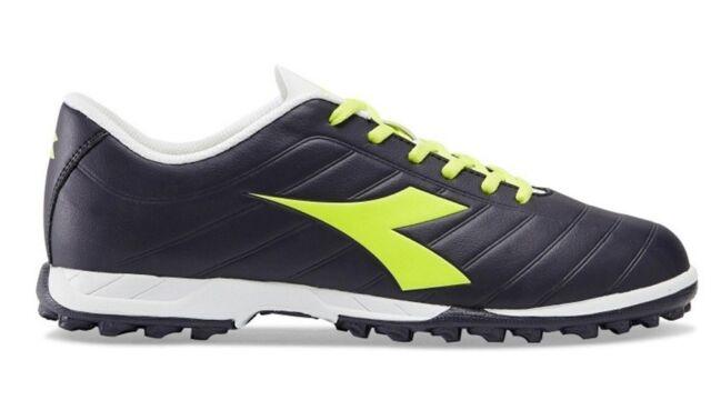 DIADORA PICHICHI TF scarpe calcetto calcio uomo tacchetti pelle nero giallo fluo