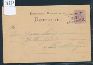 28887) Bahnpost L3 Flensburg Hambourg Ii Sans Cours/nr, Ga 1877-afficher Le Titre D'origine Clair Et Distinctif