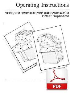 Ab Dick 8805 Operators Manual