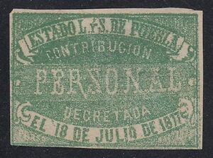 MEXICO, 1877. Revenue Puebla Personal Tax P26, Mint