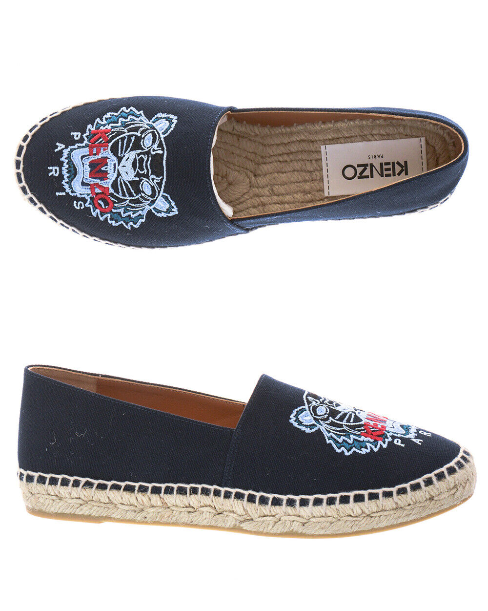 Kenzo Moccasin shoes Woman bluee F862ES180F70 76 Sz 35 MAKE OFFER