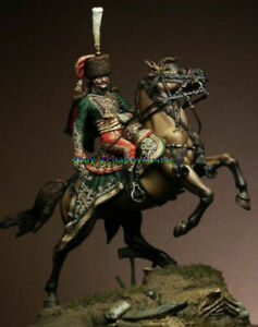 Unpainted-1-32-54mm-Ancient-Warrior-Ridding-Horse-Figure-Model-Resin-Garage-Kits