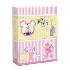 Arpan piccolo 6x4 BABY GIRL ROSA PHOTO ALBUM scivolare in caso di 100 FOTO al-9139