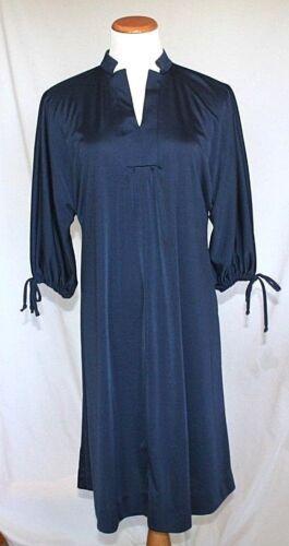 Dress Montgomery Ward Vintage 70s Size Large Blue