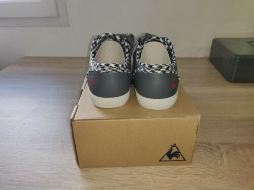 Sportif Plus 38 Houndstooth Sneakers Coq Le cuero Charcoal Size Deauville HIw5qUXU