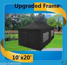 10'x20' Pop Up Canopy Party Tent EZ - Black - F Model Upgraded Frame