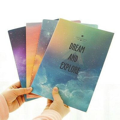"""""""Dreamland"""" Exercise Book Pack of 4 Lined Notebook Study Journal Planner"""