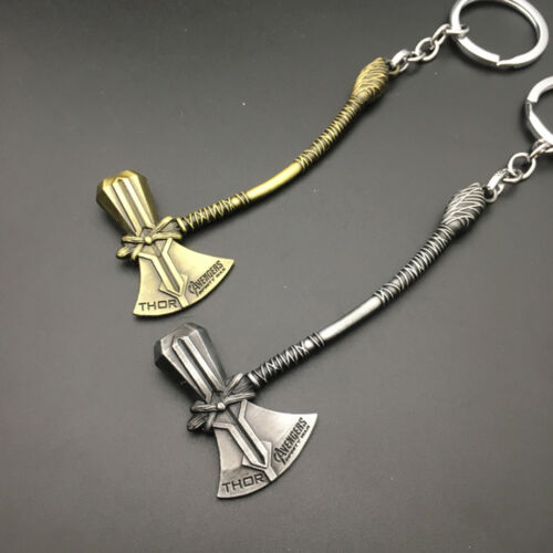 Hot Avengers 3 Infinity Thor Stormbreaker Axe Hammer Weapon Keychain Gifts