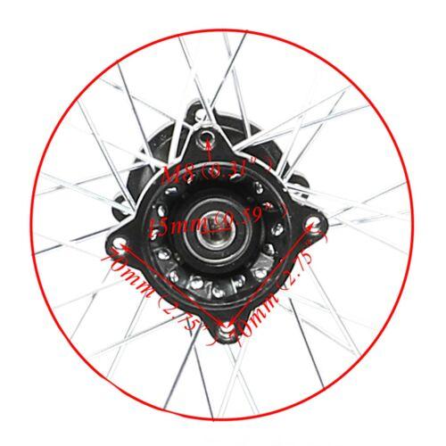 """Disc Rotor or CRF70 TTR110 KX65 CR85 15mm Axle 1.85x14 14/"""" Rear Wheel Rim Tire"""
