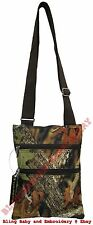 Camo Camouflage Messenger Bag Hipster Crossbody Purse Tote Mossy Oak Pattern