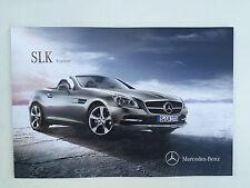 Mercedes Benz SLK Roadster - 2016 German brochure catalog